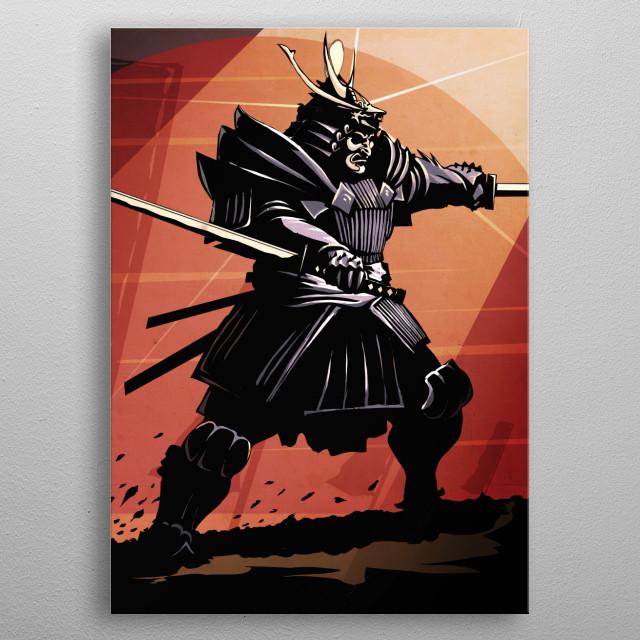 The Samurai metal poster