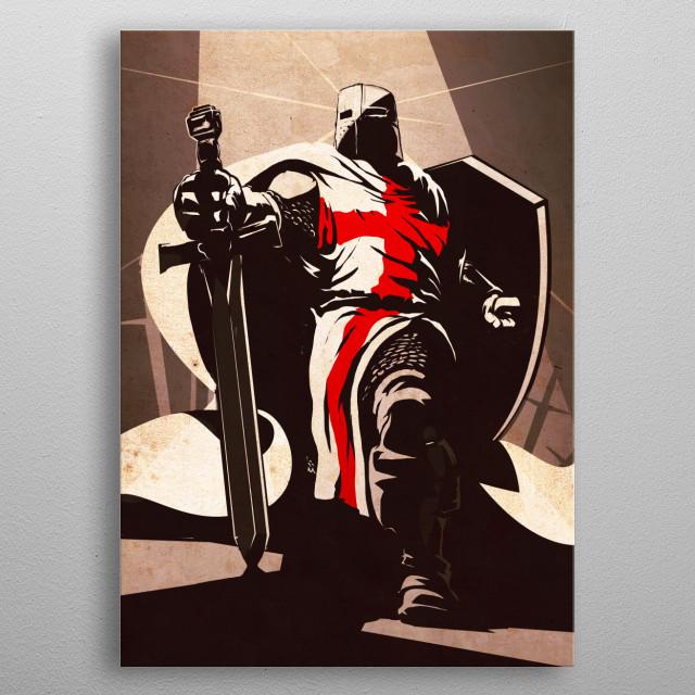 The Crusader metal poster