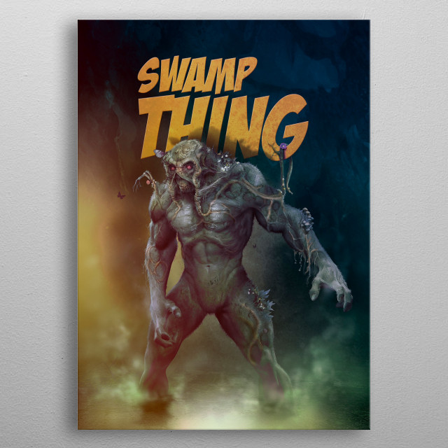 Swamp Thing metal poster