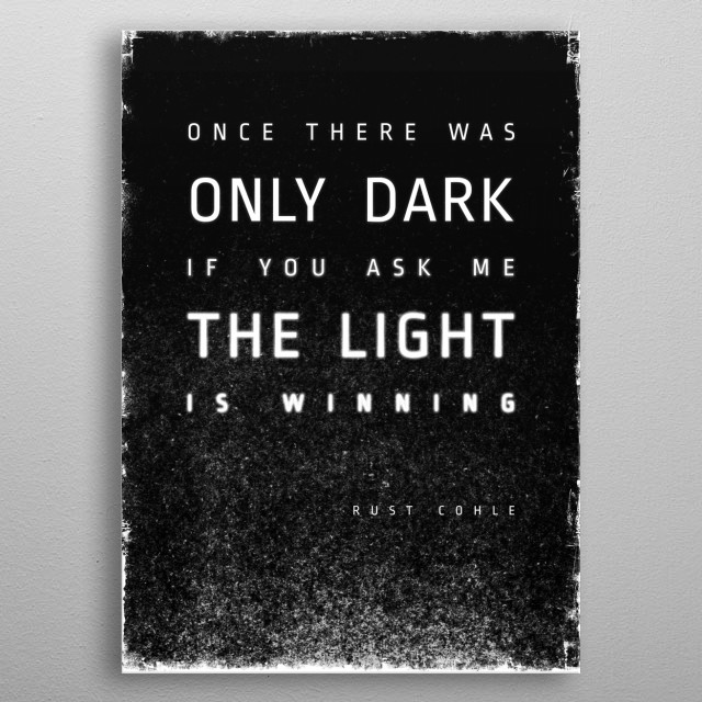 LIGHT vs. DARK metal poster