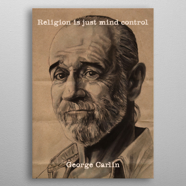 Religion is just mind control metal poster