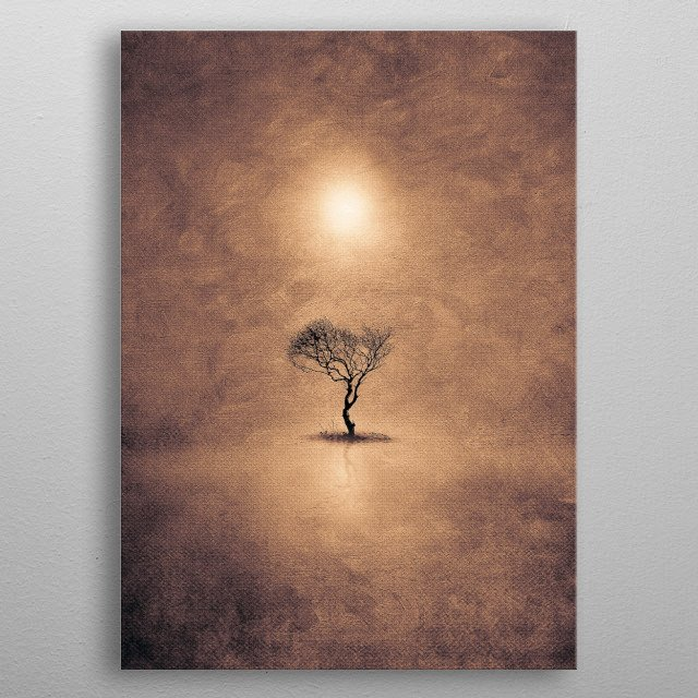 High-quality metal print from amazing Lone Tree collection will bring unique style to your space and will show off your personality. metal poster