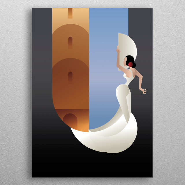 Fascinating metal poster designed by Irina Synentchenko. Displate has a unique signature and hologram on the back to add authenticity to each design. metal poster
