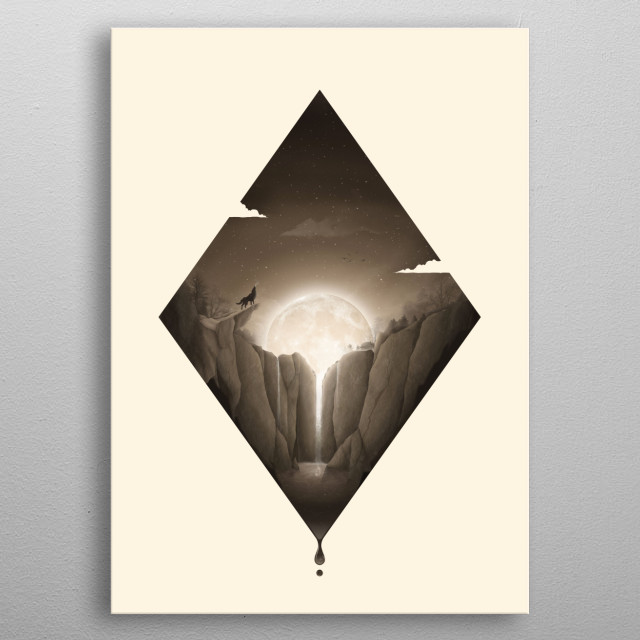 High-quality metal print from amazing Shaped Nights collection will bring unique style to your space and will show off your personality. metal poster