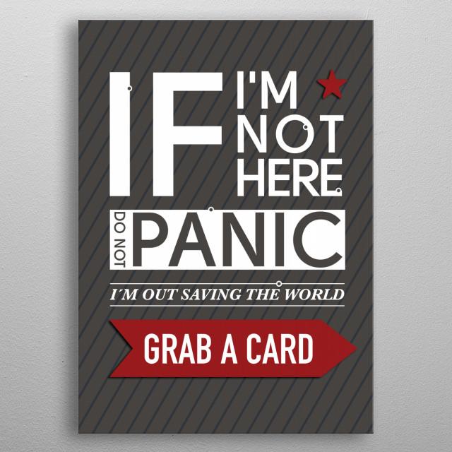 Grab A Card metal poster