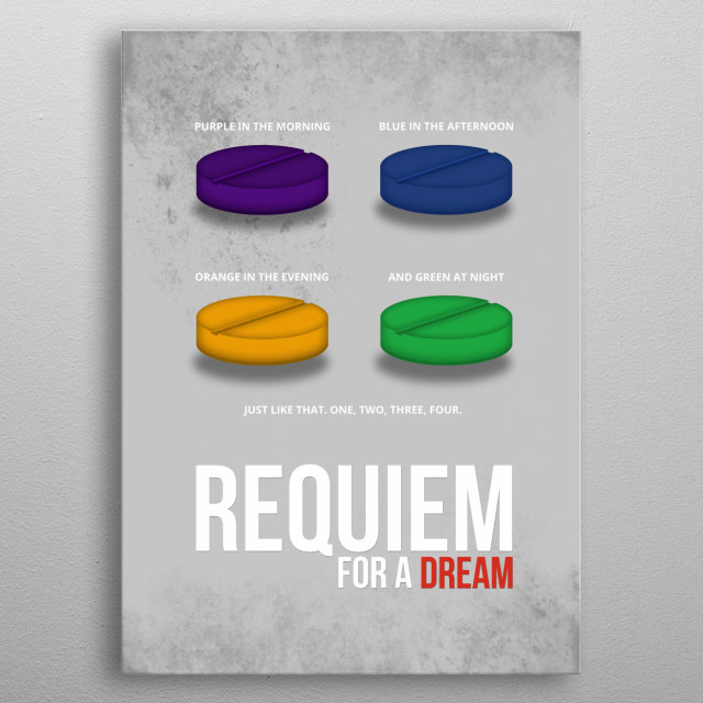 Requiem for a Dream - Minimal Movie Poster metal poster
