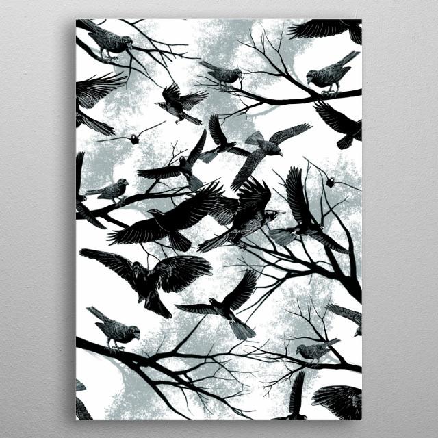 Blackbirds metal poster