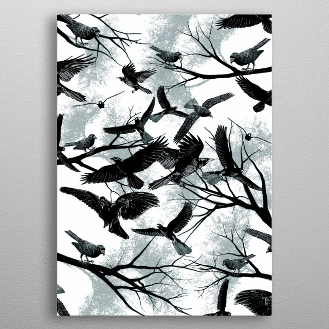 High-quality metal wall art meticulously designed by danidngeroz would bring extraordinary style to your room. Hang it & enjoy. metal poster