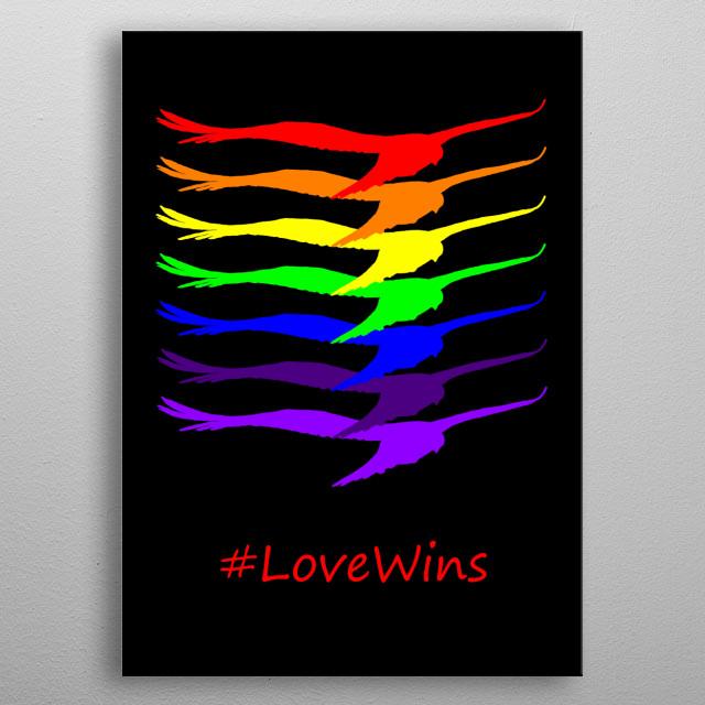 #LoveWins metal poster