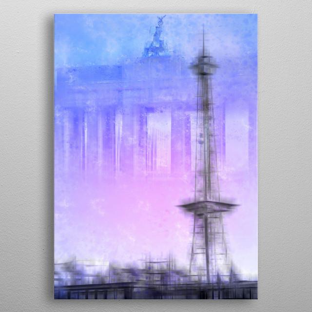 City-Art BERLIN Radio Tower metal poster