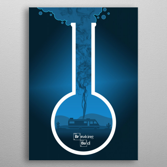 Breaking Bad - Minimal TV Poster - Crystal Blue metal poster