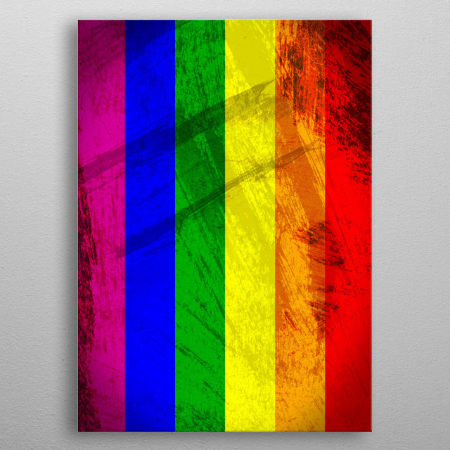 Pride - in celebration of the momentous decision by the U.S. Supreme Court to legalize same-sex marriage across the entire country! metal poster