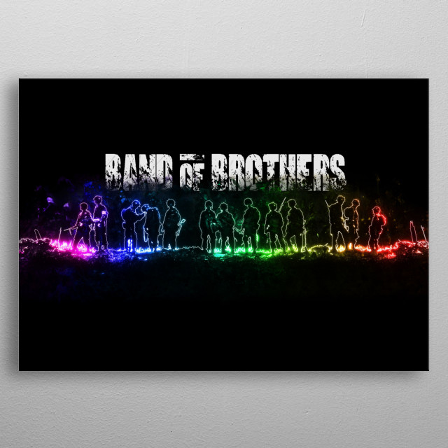 Band of Brothers - Glow Movie Poster metal poster