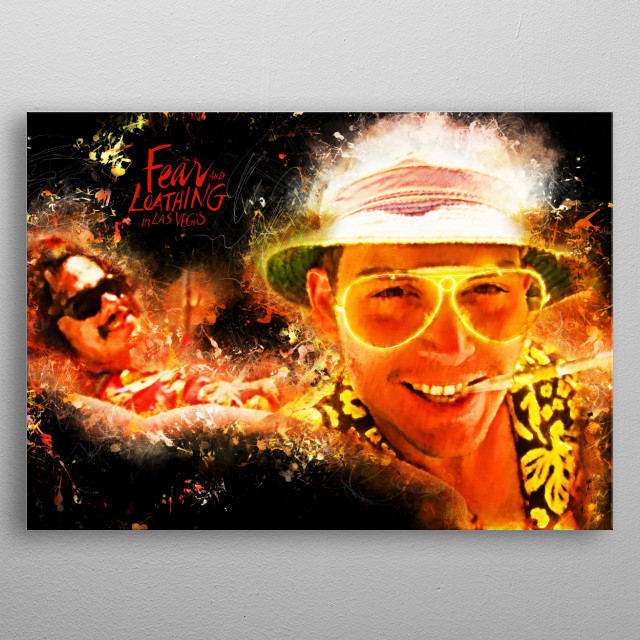 Fear and Loathing in Las Vegas - Alternative Movie Poster metal poster