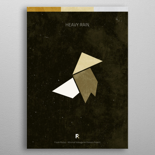 Heavy Rain. Minimal Videogame Poster. metal poster