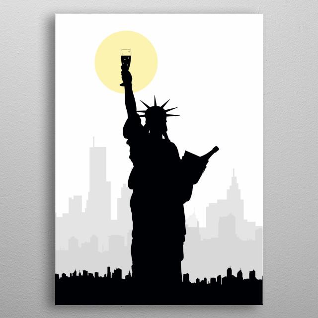 Drunk Liberty metal poster