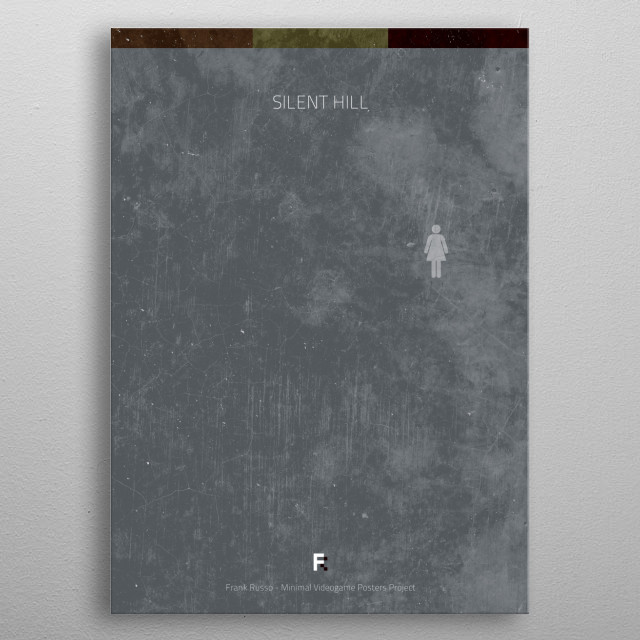 Silent Hill. Minimal Videogame Poster. metal poster