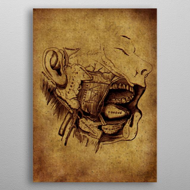 Anatomic 6 metal poster