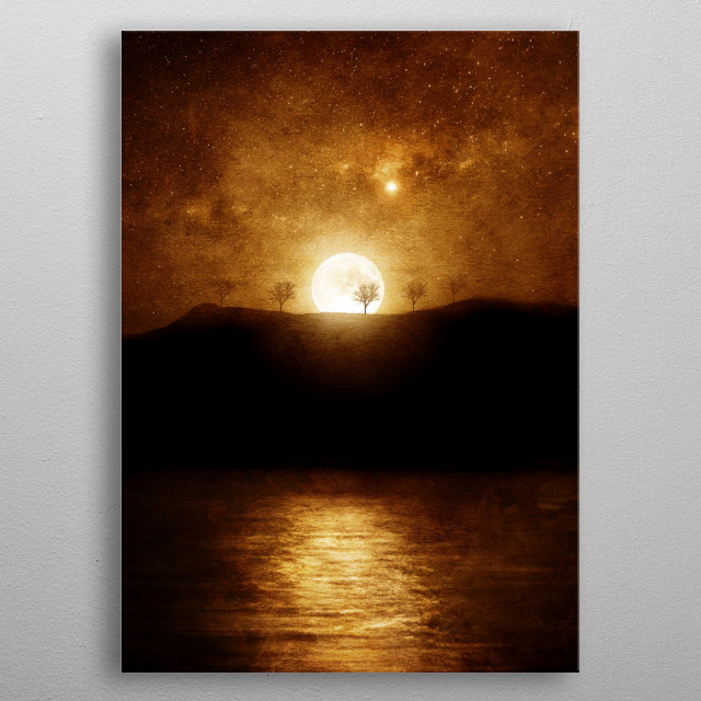 Magical moon metal poster