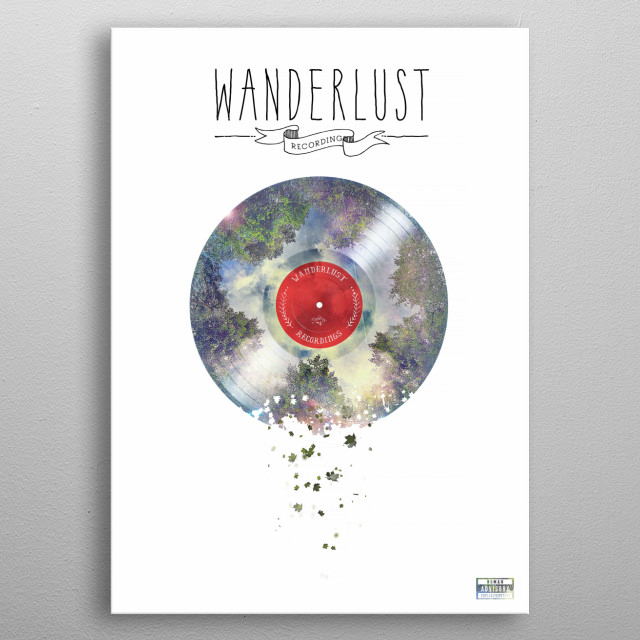 Wanderlust Recordings metal poster