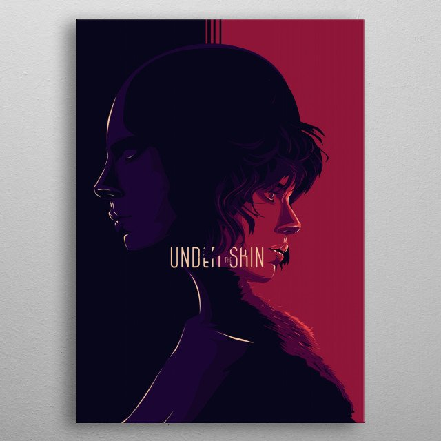 Under the skin - alternative movie poster design II metal poster