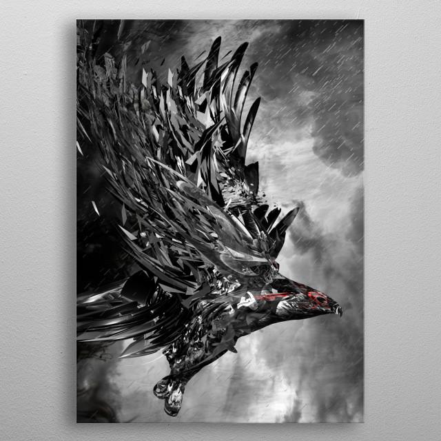 Night Flight metal poster