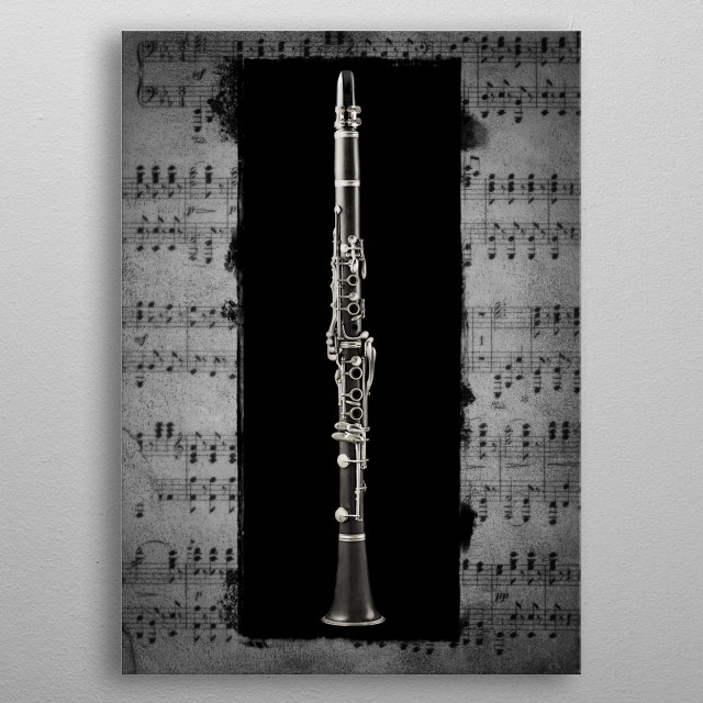 Clarinet metal poster