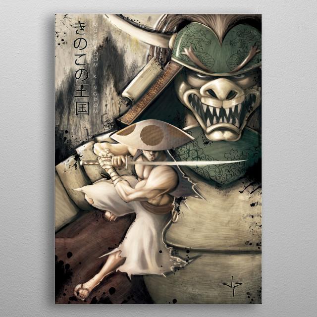 Ronin of the Mushroom Kingdom metal poster