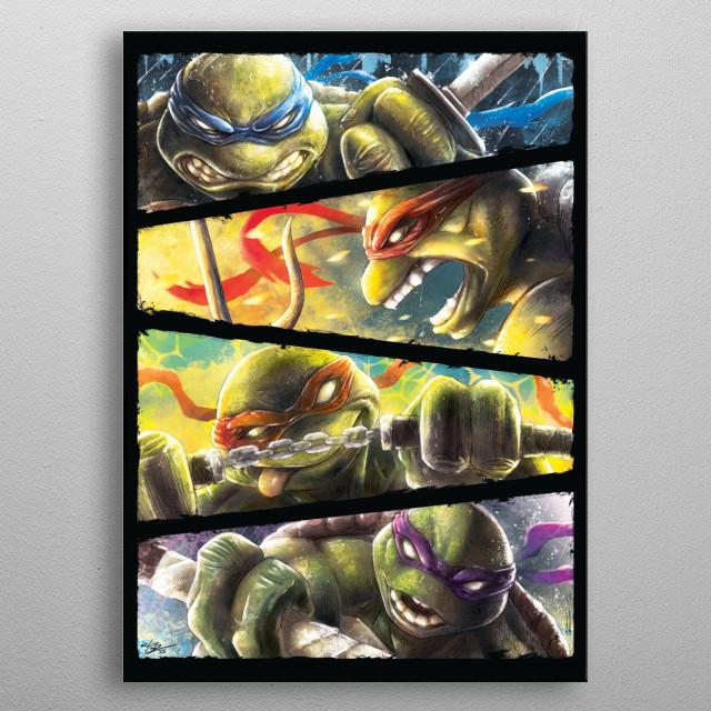 Turtle Power - inspired by the TMNT teenage mutant ninja turtles metal poster