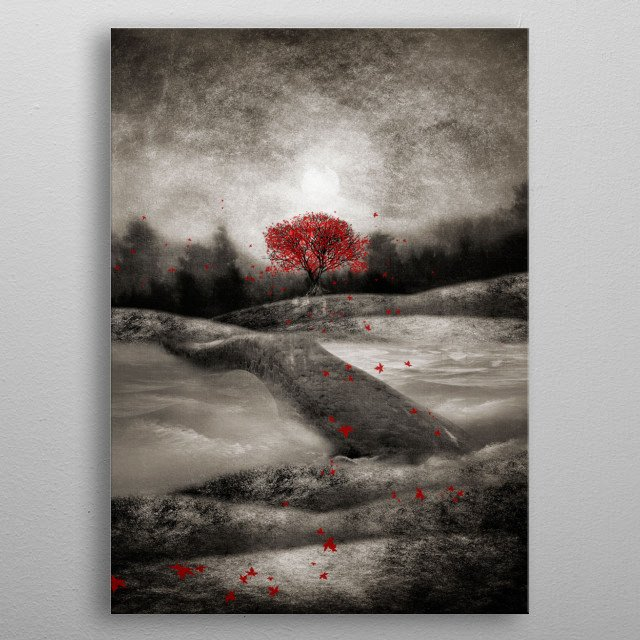 The red sounds and poems chapter I metal poster