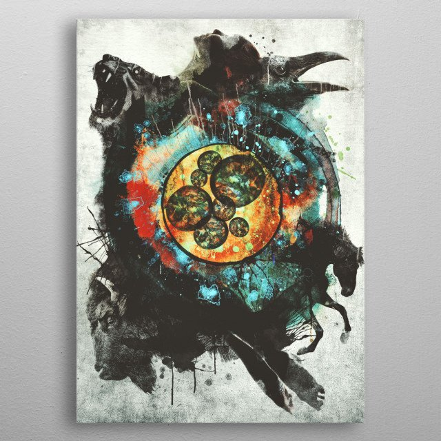 The Circle of Life metal poster