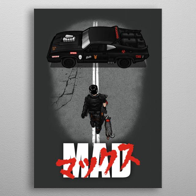 Mad Warrior metal poster