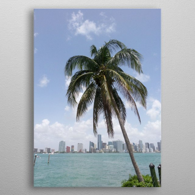 Miami Skyline I metal poster