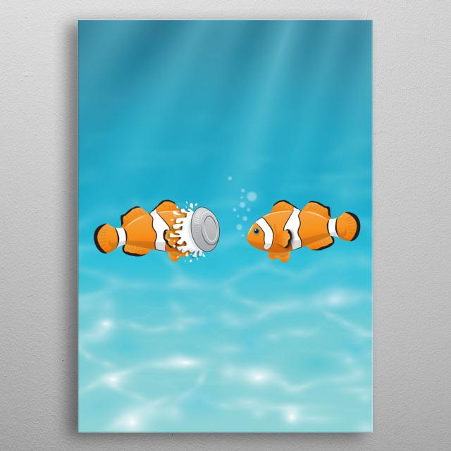 Clown fish metal poster