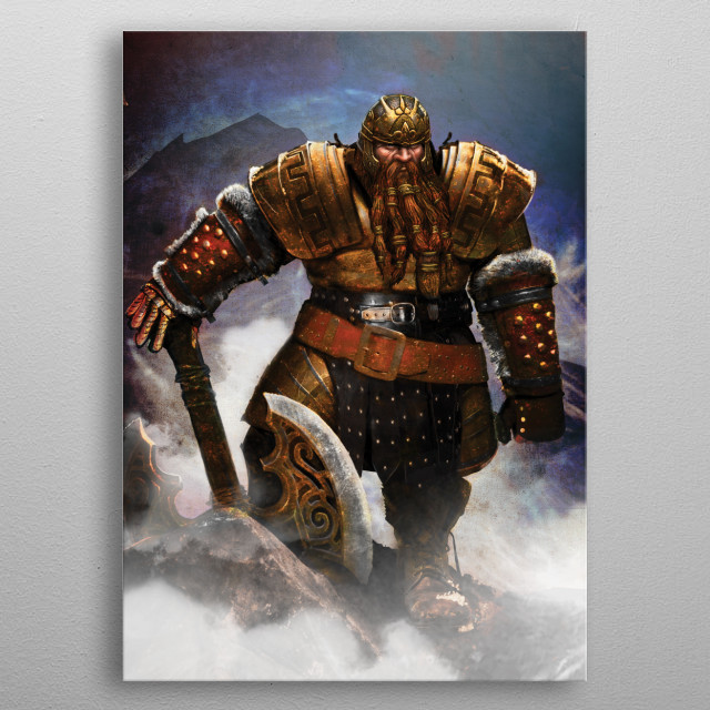 Battlemaster metal poster