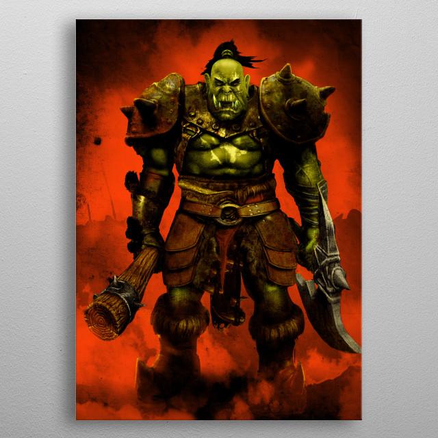 Orcish Raider metal poster