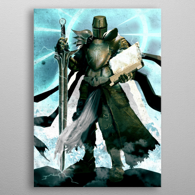The Holy Knight metal poster