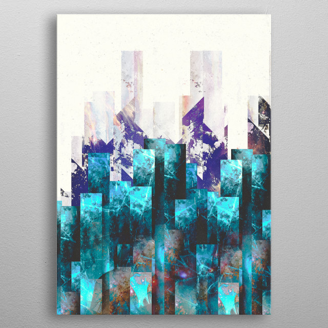 Cold Cities metal poster
