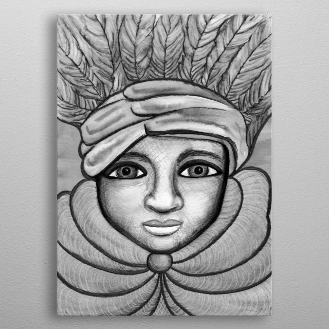 Feather Hat metal poster