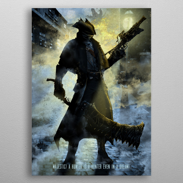 Bloodborne metal poster
