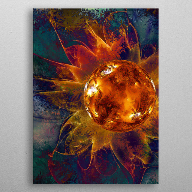 SOLAR FLARE metal poster