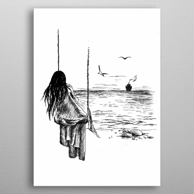 Loneliness metal poster