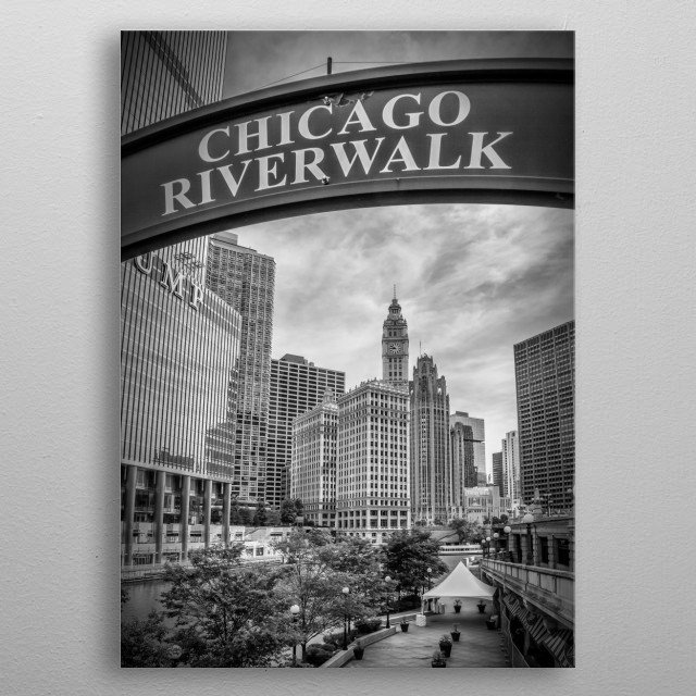 CHICAGO Downtown metal poster