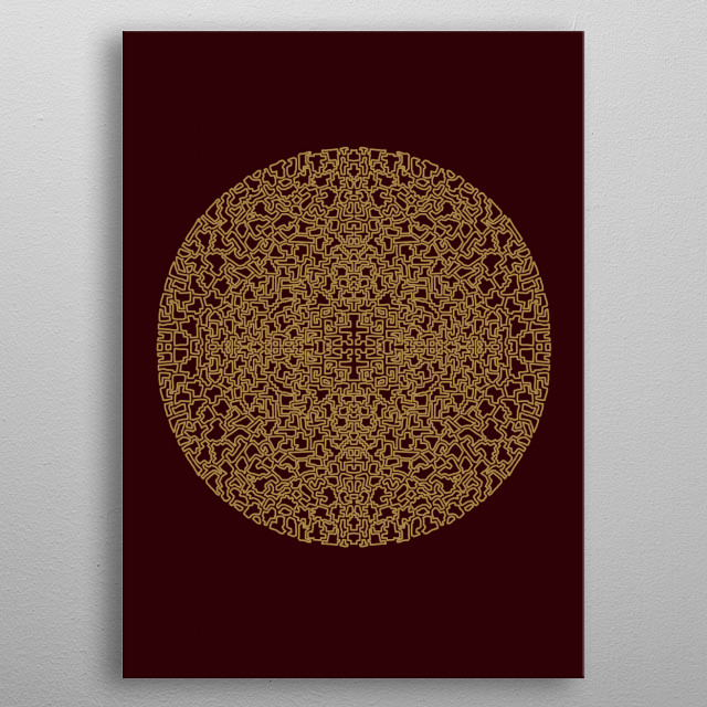High-quality metal print from amazing Patterns And Shapes collection will bring unique style to your space and will show off your personality. metal poster