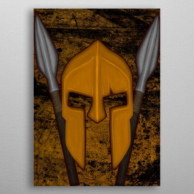 Spartan V2 metal poster