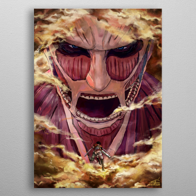 Attack on Titan metal poster