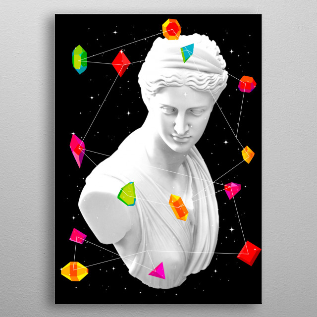 Fascinating  metal poster designed with love by tentimeskarma. Decorate your space with this design & find daily inspiration in it. metal poster