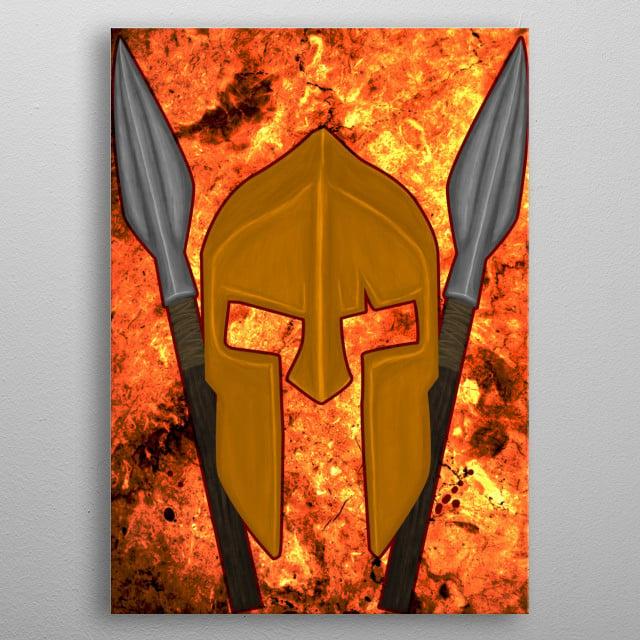 The Spartan V1 metal poster