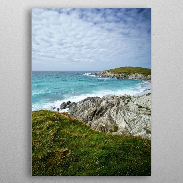 The coast of Cornwall metal poster