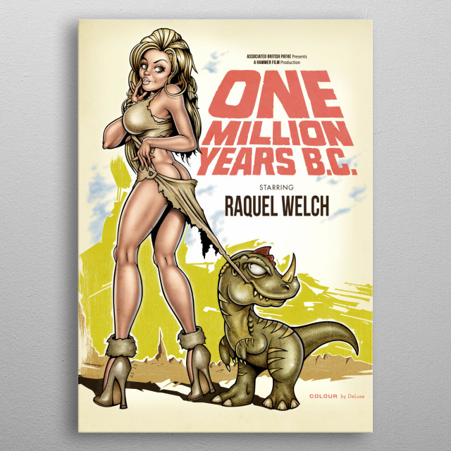 One Million Years BC metal poster